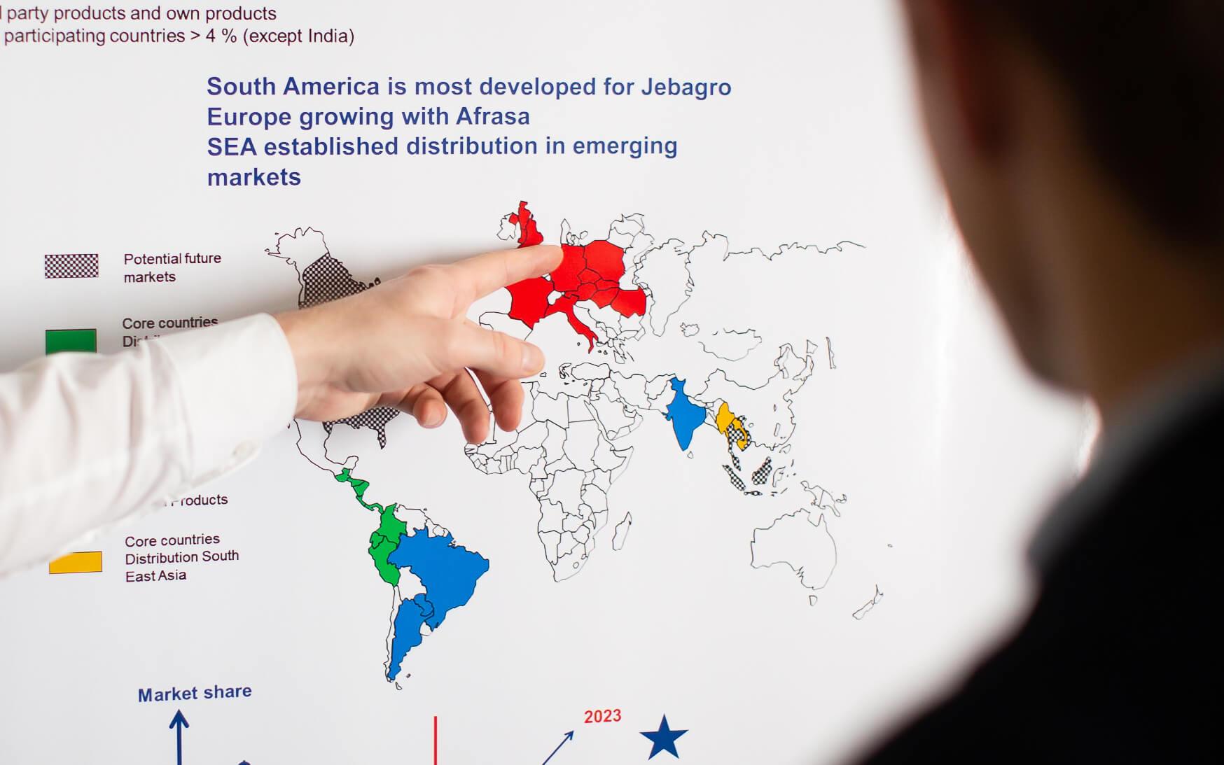 Lebensmittelzusatzstoffe Hersteller Unternehmen, Weltkarte