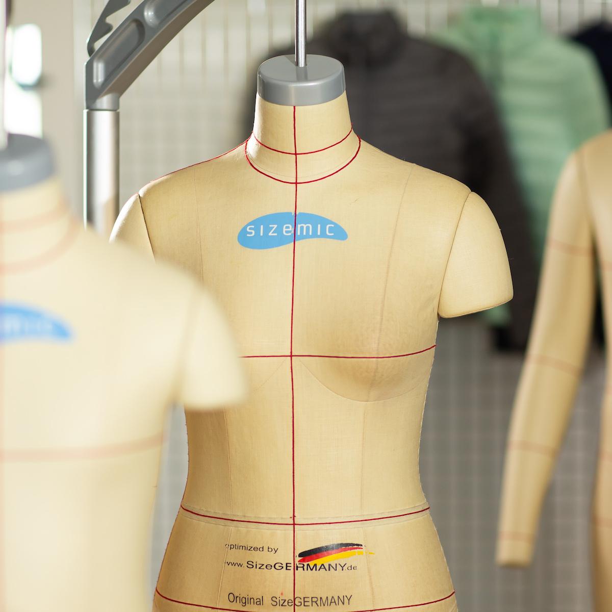 Nachhaltige Textilien Schaufensterpuppe ohne Kopf