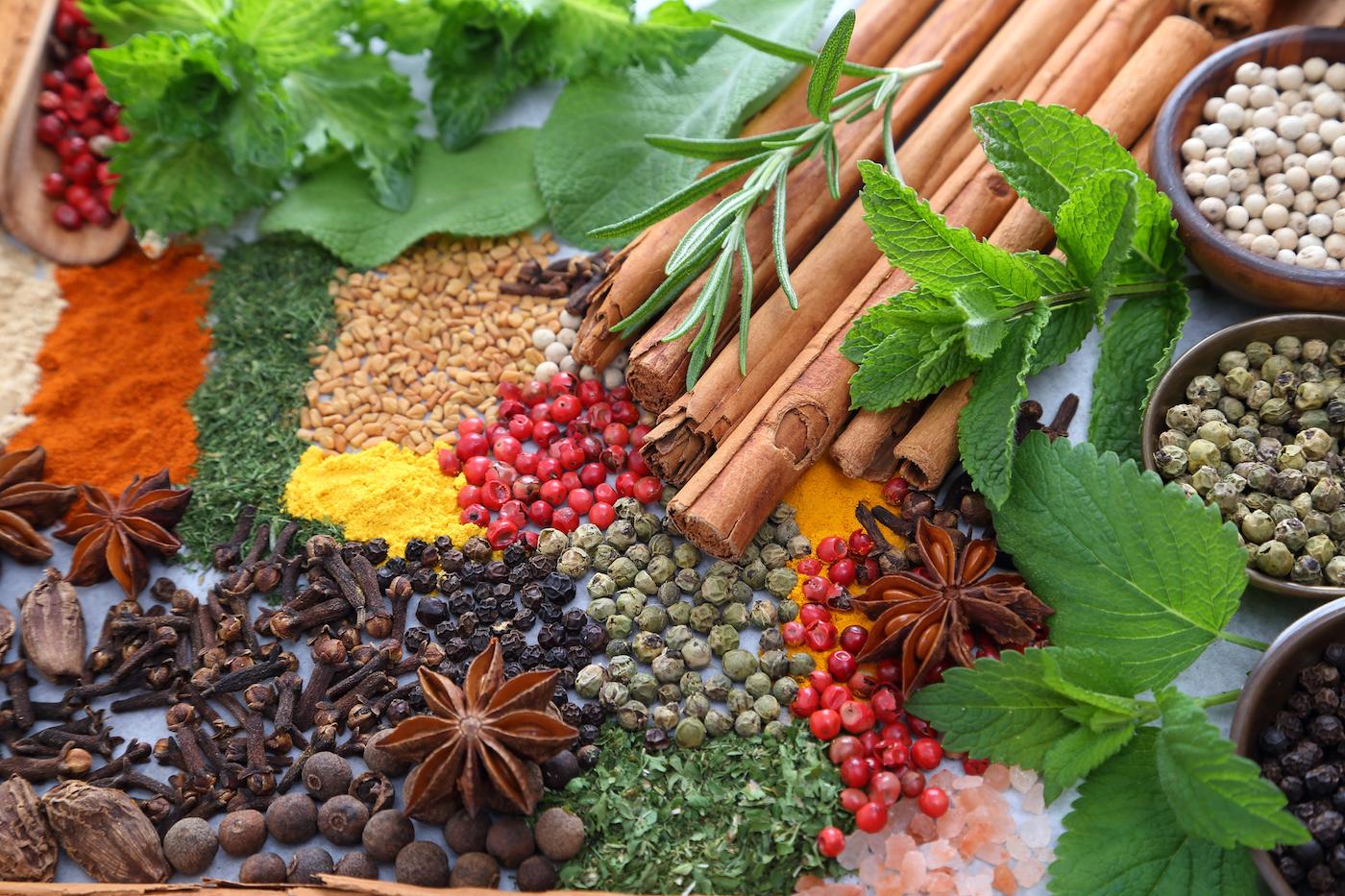 Lebensmittelzusatzstoffe Hersteller, verschiedene Gewürze